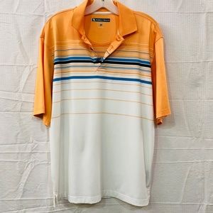 Pebble Beach Striped Short Sleeve  Polo